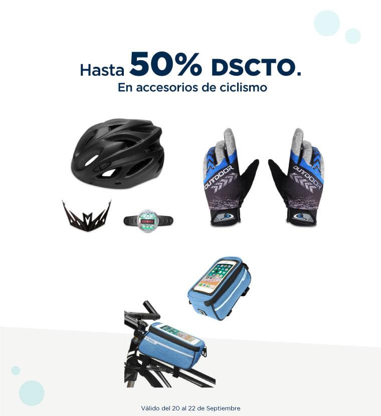 Hasta 50% de descuento en Accesorios de ciclismo