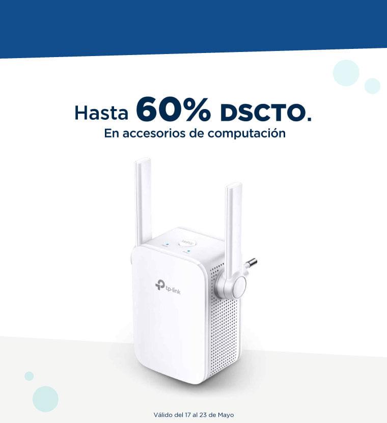 Hasta 60% de descuento en Accesorios de Computación