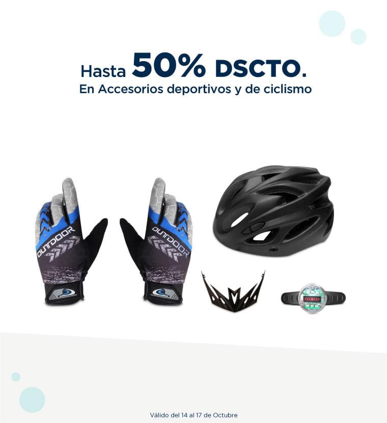 Hasta 50% de descuento en Accesorios deportivos y de ciclismo