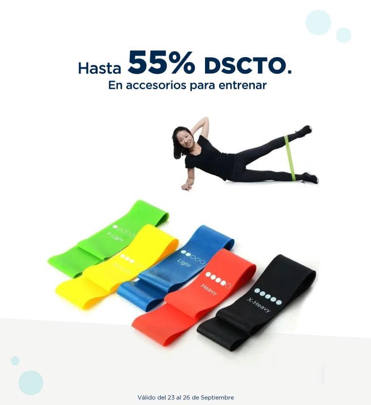 Hasta 55% de descuento en Accesorios para entrenar