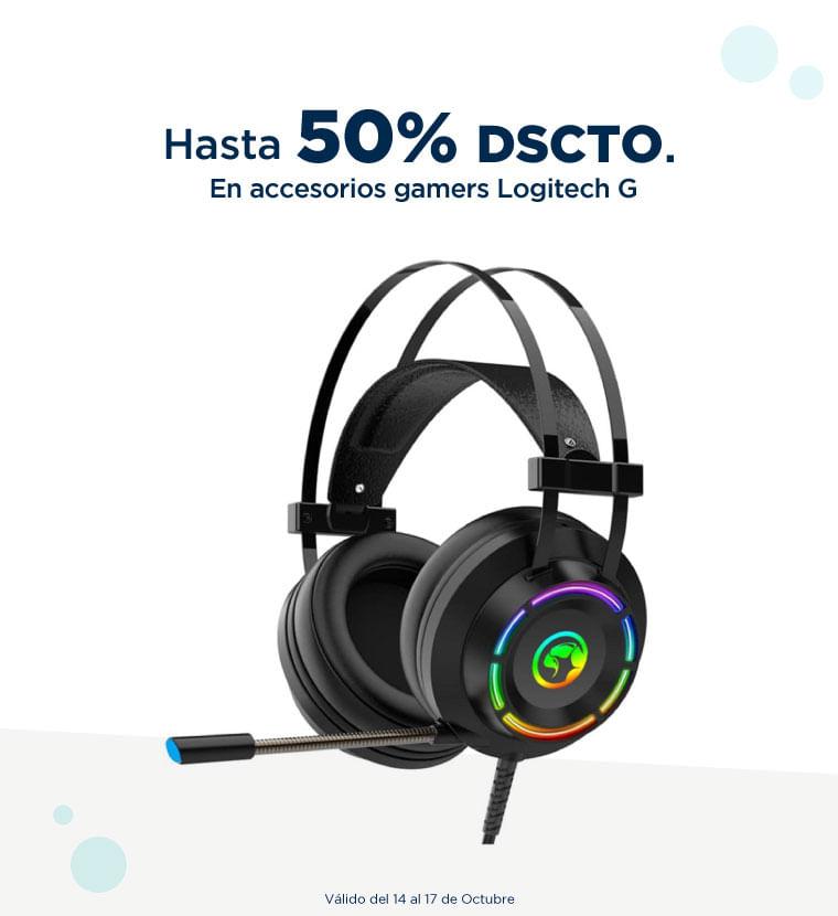 Hasta 50% de descuento en Accesorios gamers Logitech G