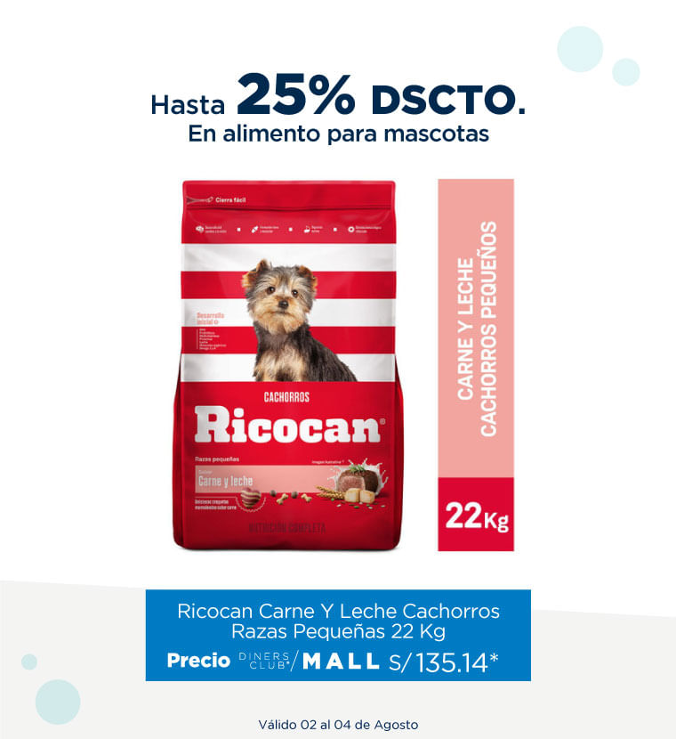 Hasta 25% de descuento alimentos para mascotas