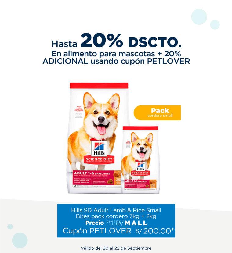 Hasta 20% de descuento en Alimento para mascotas + 20% adicional con cupon PETLOVER