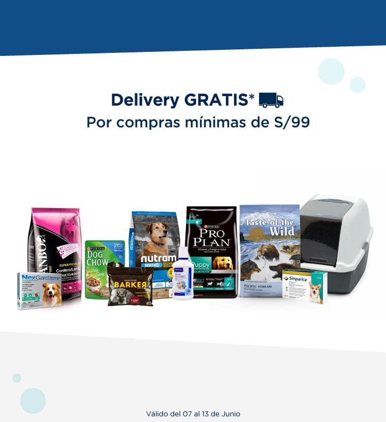 Delivery Gratis - Por compras mínimas de S/99