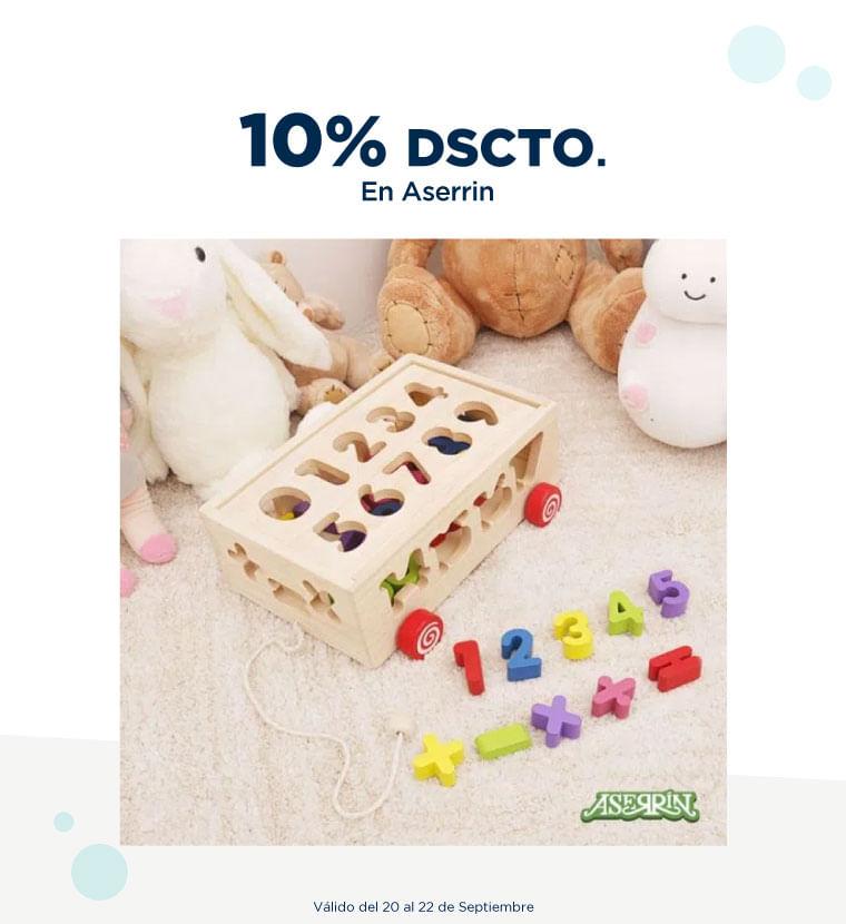 10% de descuento en Aserrin
