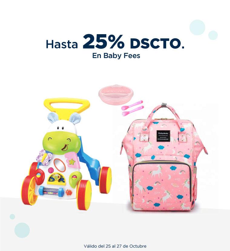 Hasta 25% de descuento en Baby Fees