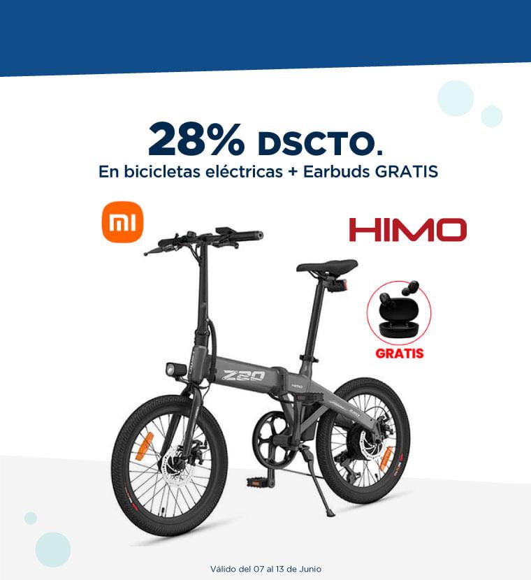 Hasta 28% de descuento en Bicicleta eléctricas + Earbuds Gratis