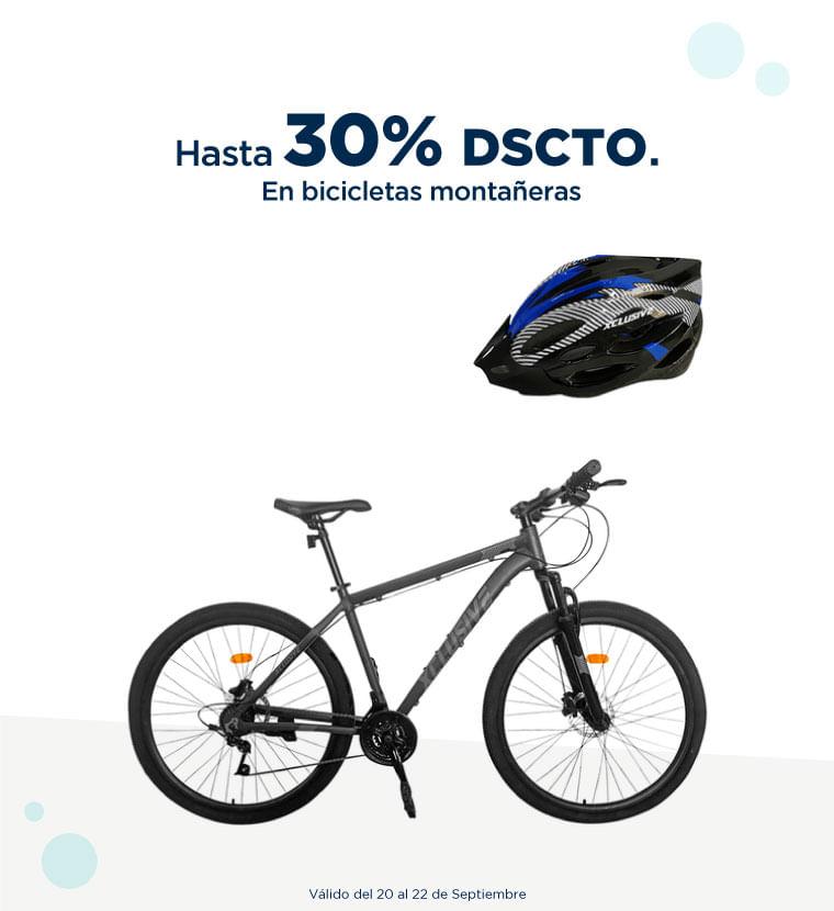 Hasta 30% de descuento en Bicicletas montañeras