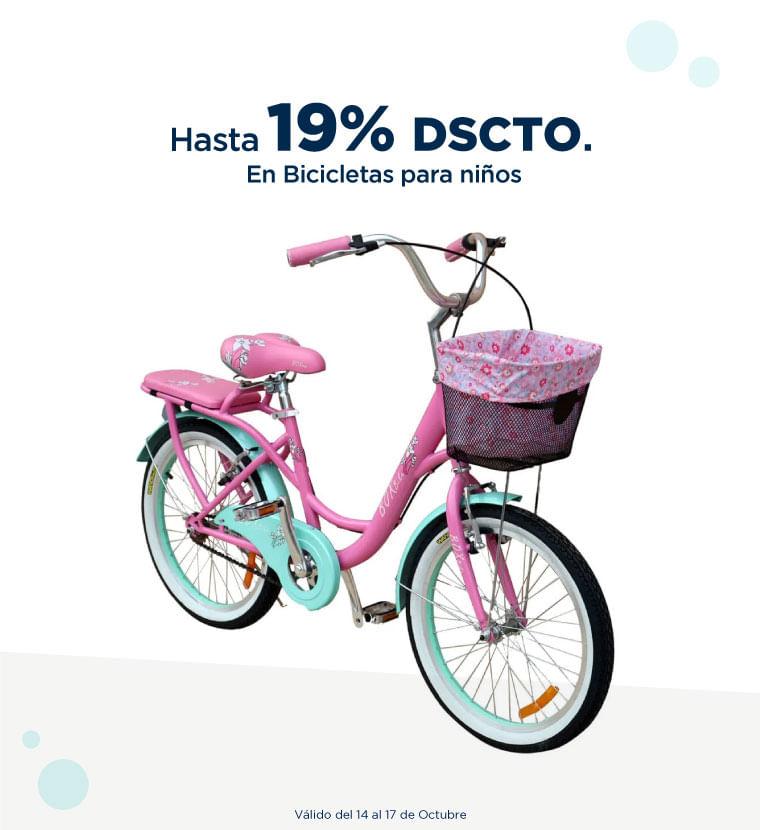 Hasta 19% de descuento en Bicicletas para niños