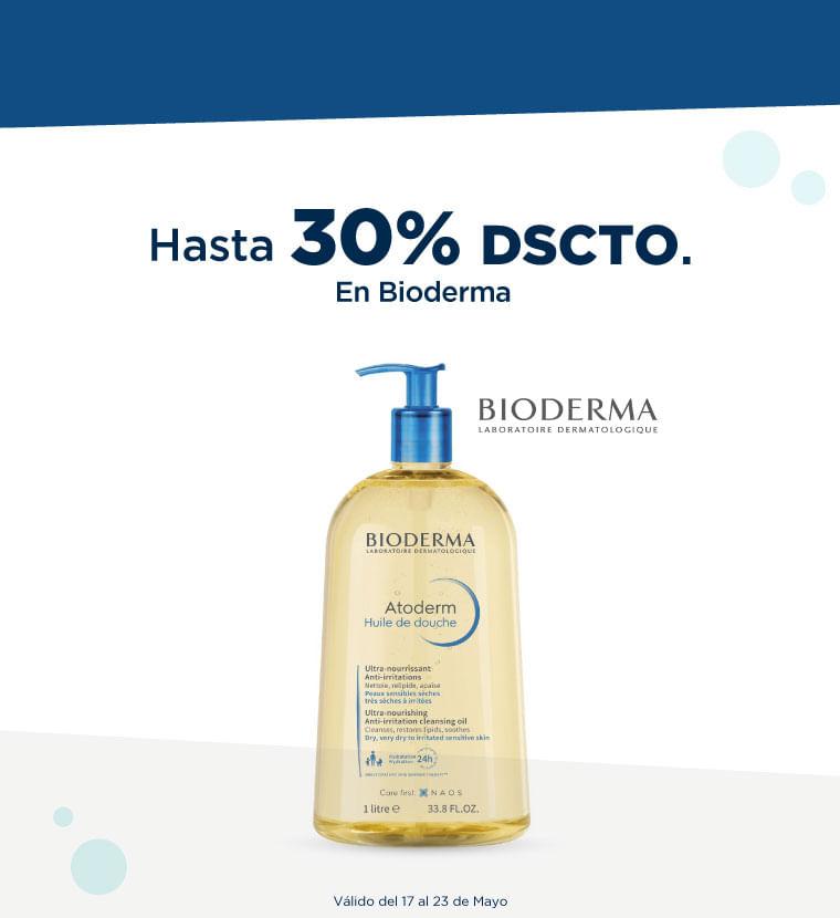 Hasta 30% de descuento en Bioderma