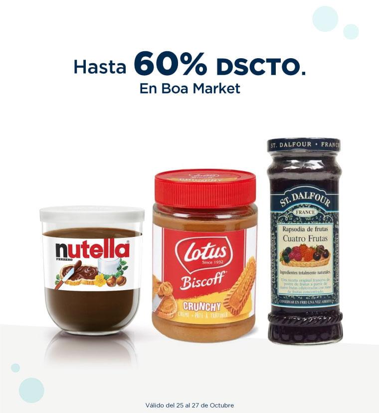 Hasta 60% de descuento en Boa Market