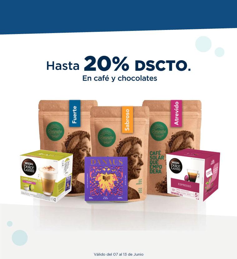 Hasta 20% de descuento en Café y Chocolate