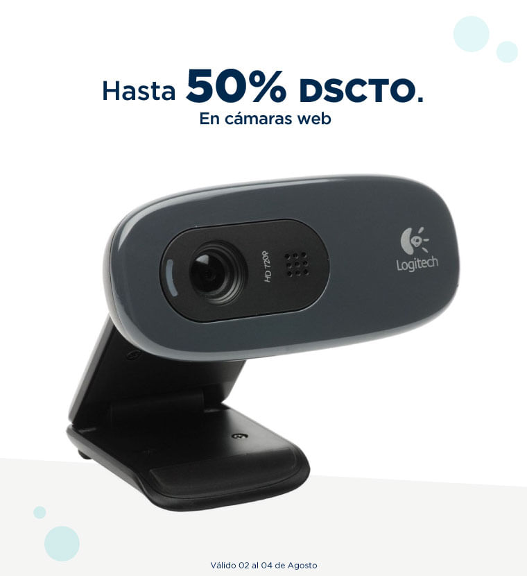 Hasta 50% en cámaras web