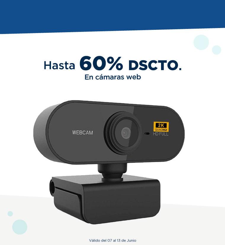 Hasta 60% de descuento en cámaras web