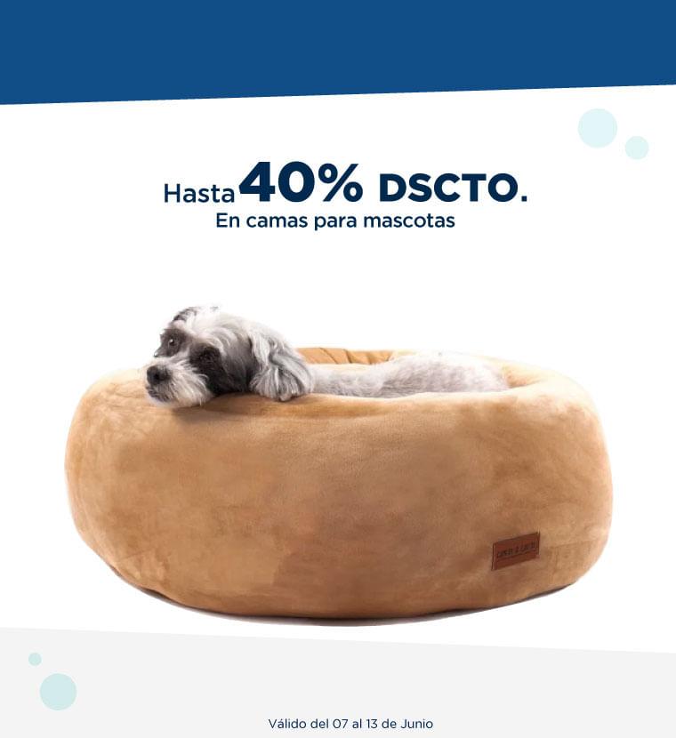 Hasta 40% de DSCTO en camas para mascota