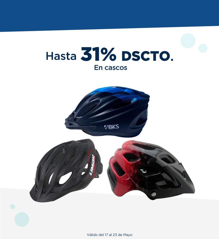 Hasta 31% de descuento en cascos