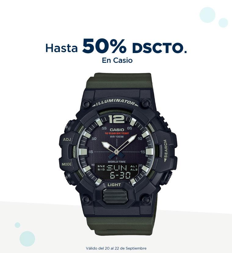 Hasta 50% de descuento en Casio