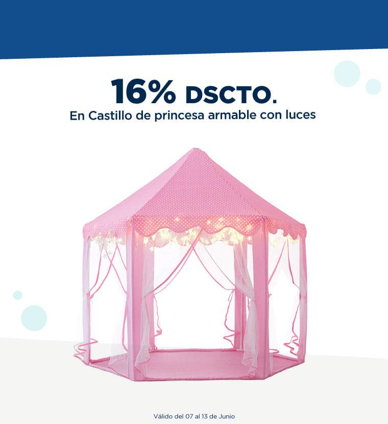 Hasta 16% de descuento en castillo de princesa armable con luces