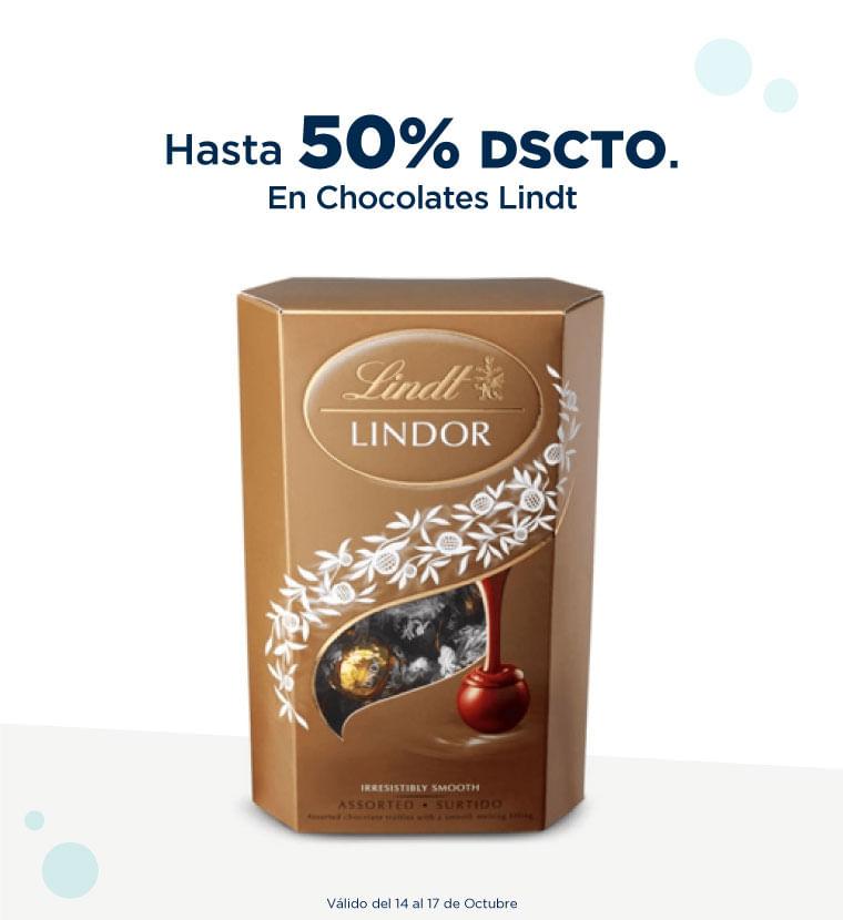 Hasta 50% de descuento en Chocolates Lindt