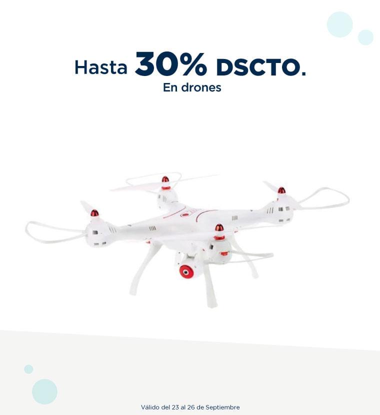Hasta 30% de descuento en Drones