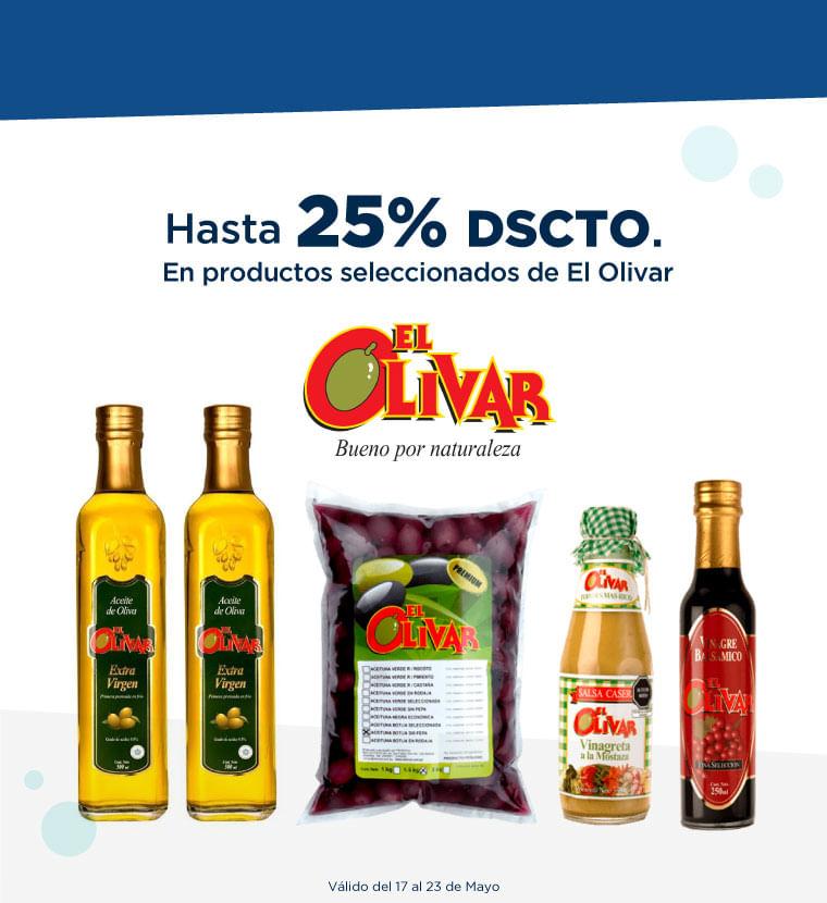 Hasta 25% de descuento en productos seleccionados de El Olivar