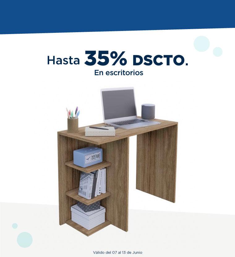 Hasta 35% de descuento en escritorios