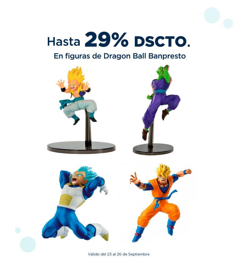 hasta 29% de descuento en figuras de Dragon Ball Banpresto