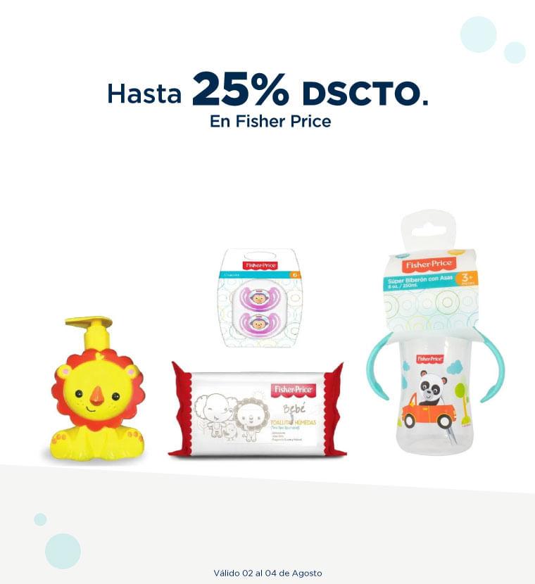 Hasta 25% de descuento en Fisher Price