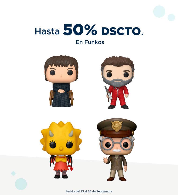 hasta 50% de descuento en Funkos