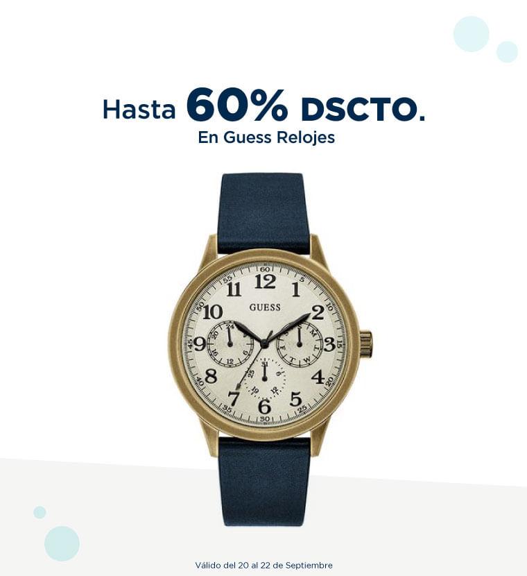 Hasta 60% de descuento en Guess relojes