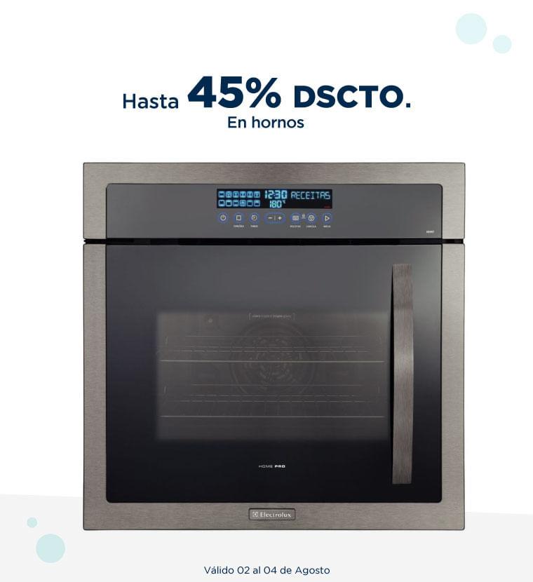 Hasta 45% de descuento en hornos