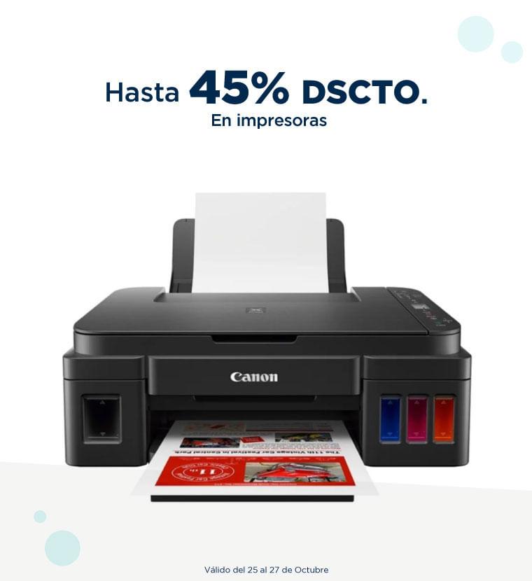 Hasta 45% de descuento en Impresoras