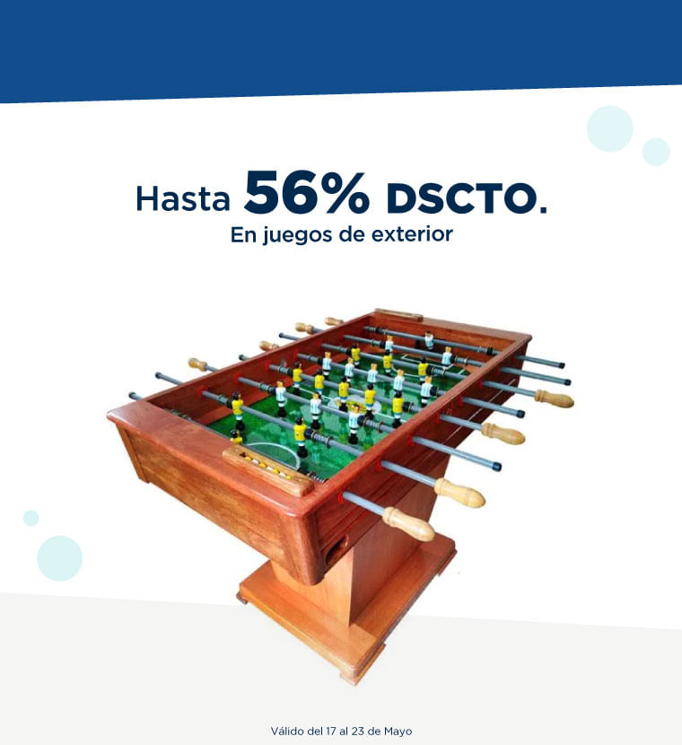 Hasta 56% de descuento en Juegos Exterior