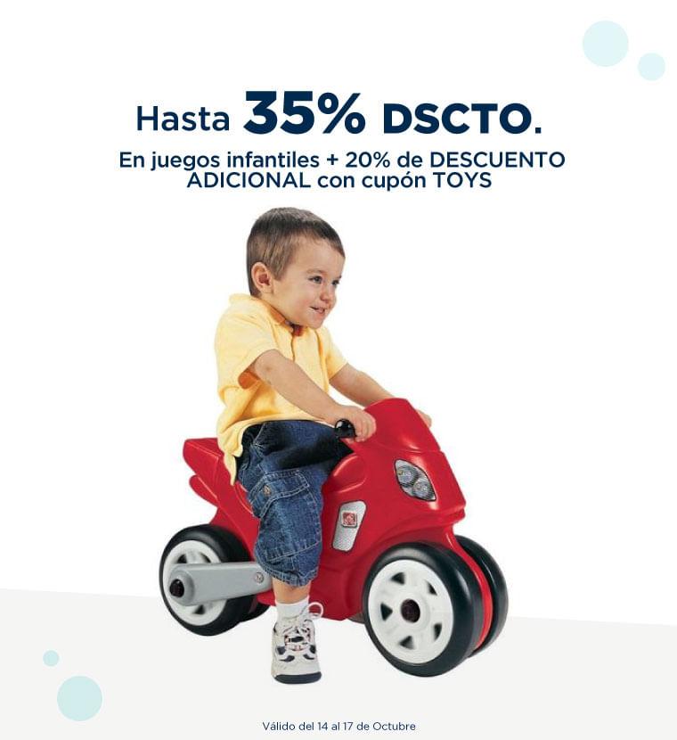 Hasta 35% de descuento en Juegos infantiles mas 20% adicional con el cupon TOYS