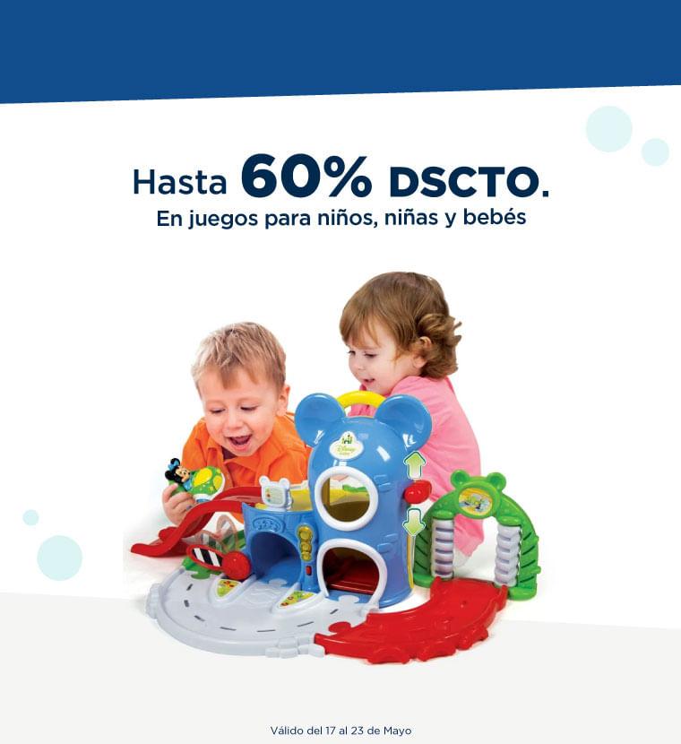 Hasta 60% de descuento en Juegos para niños, niñas y bebés