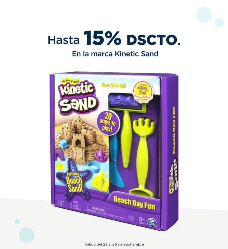 Hasta 15% de descuento en la marca Kinetic Sand