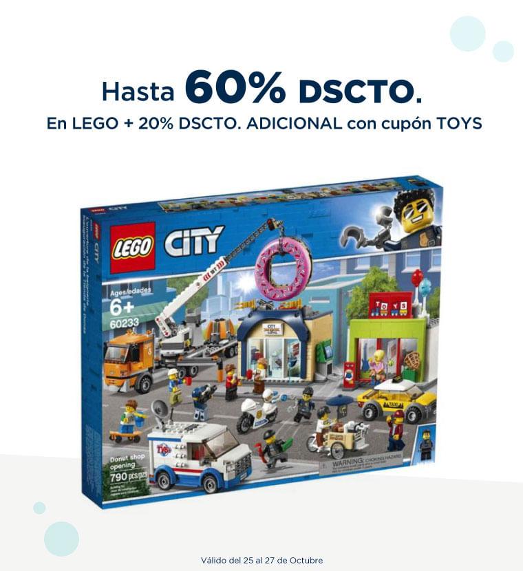 Hasta 60% de descuento en Lego más 20% de descuento ADICIONAL usando cupón TOYS