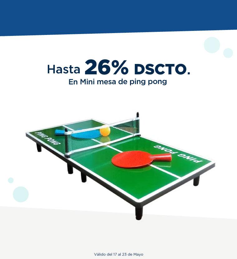 Hasta 26% de descuento en Mini Mesa de Ping Pong