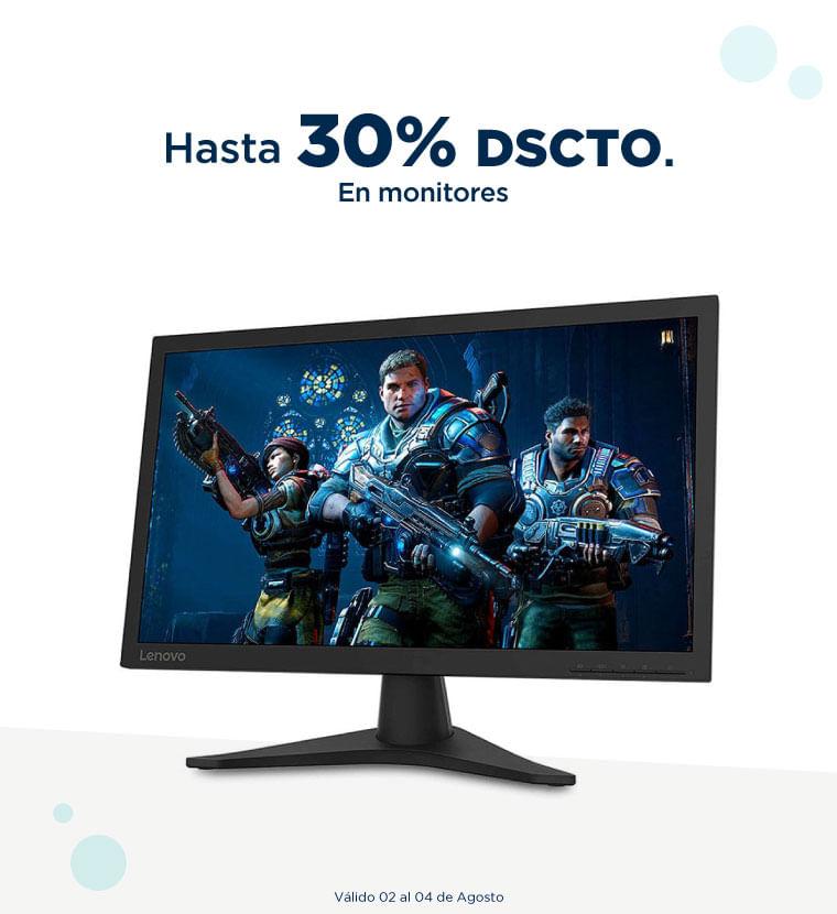 Hasta 30% en monitores