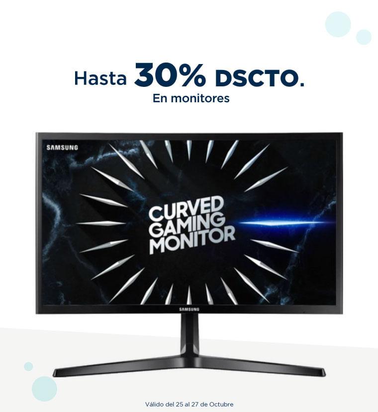 Hasta 30% de descuento en Monitores