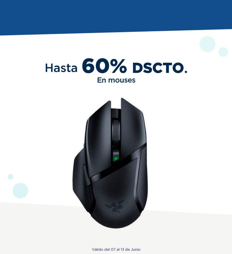 Hasta 60% de descuento en Mouses