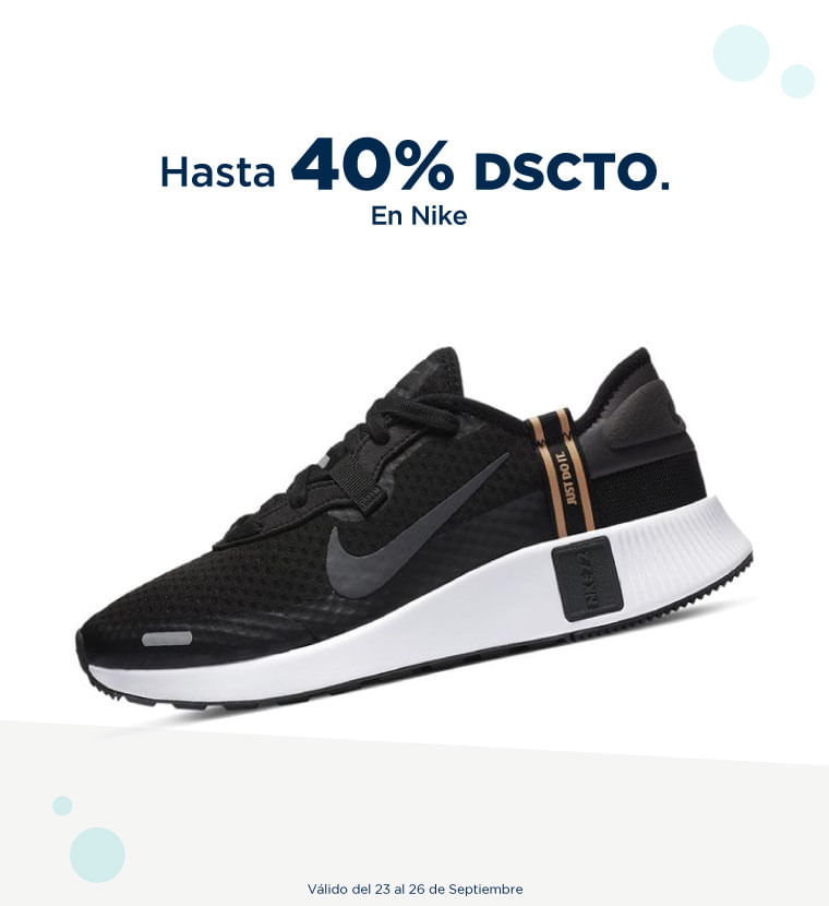 Hasta 40% de descuento en Nike