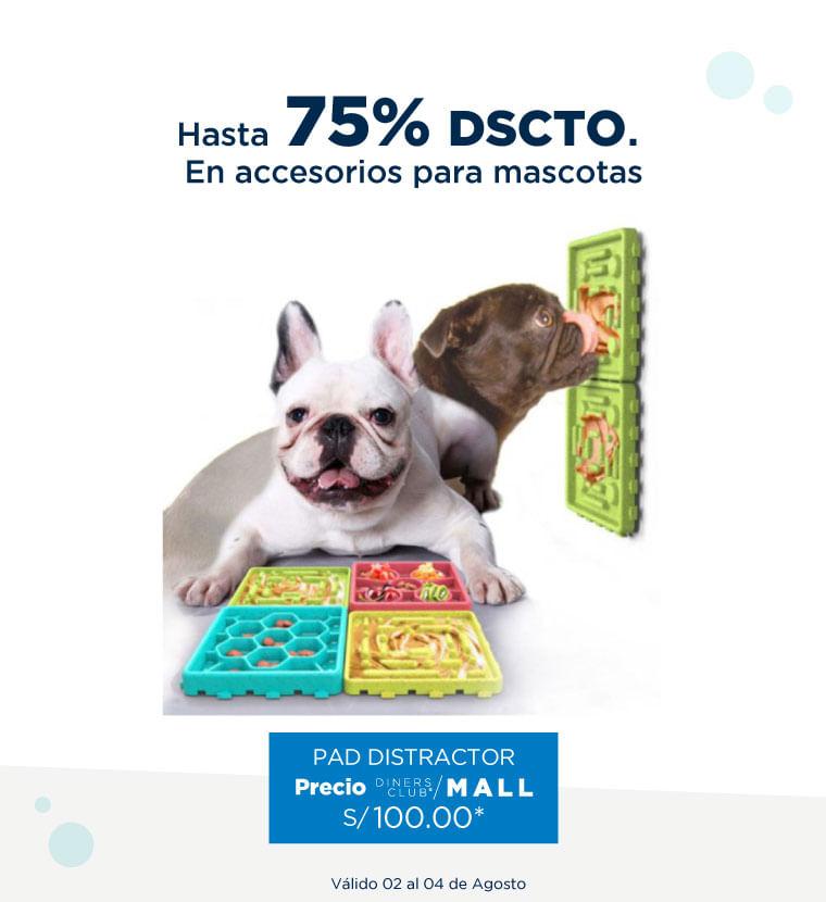 Hasta 75% de descuento en accesorios para mascotas