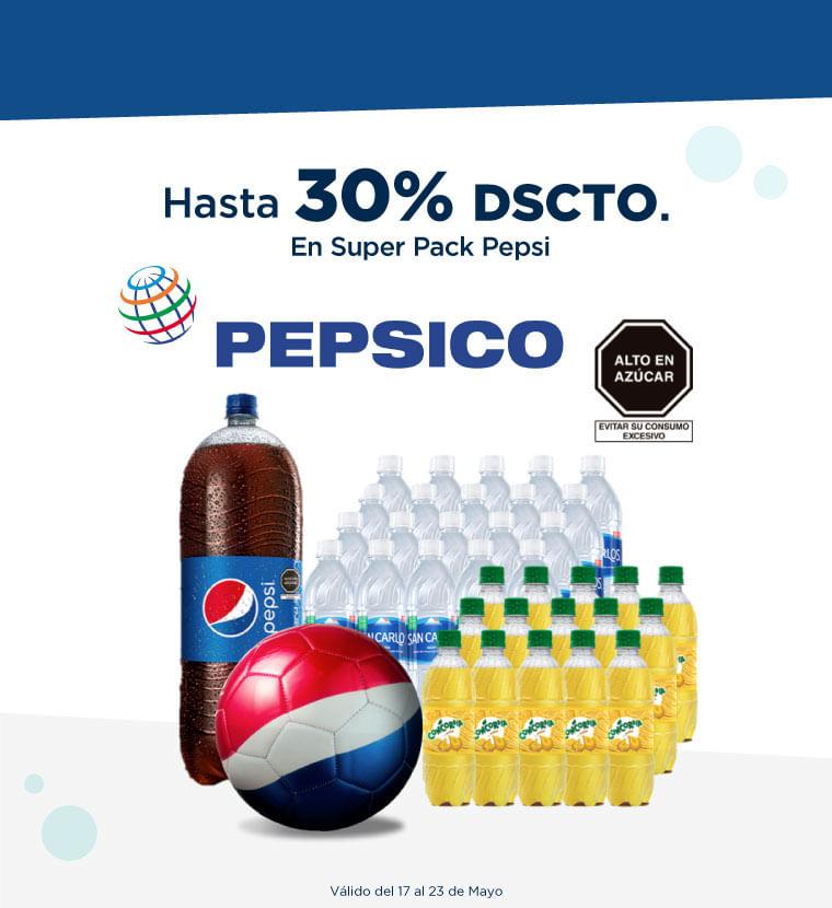 Hasta 30% de descuento en Super Pack Pepsi