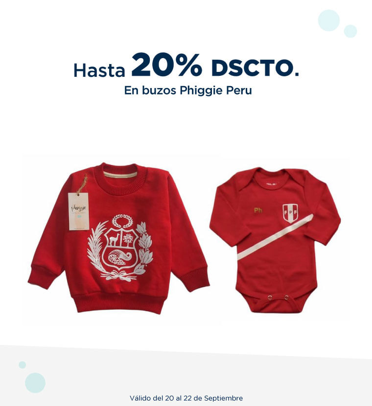 Hasta 20% de descuento en Buzos Phiggie Peru