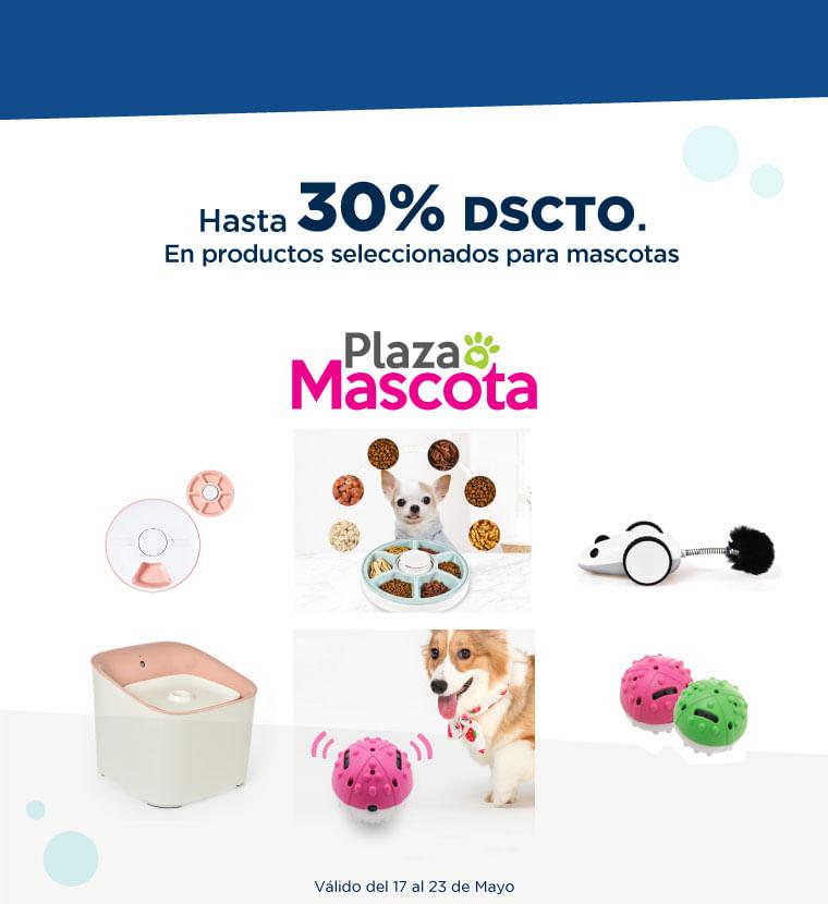 Hasta 30% de descuento en productos seleccionados para mascotas