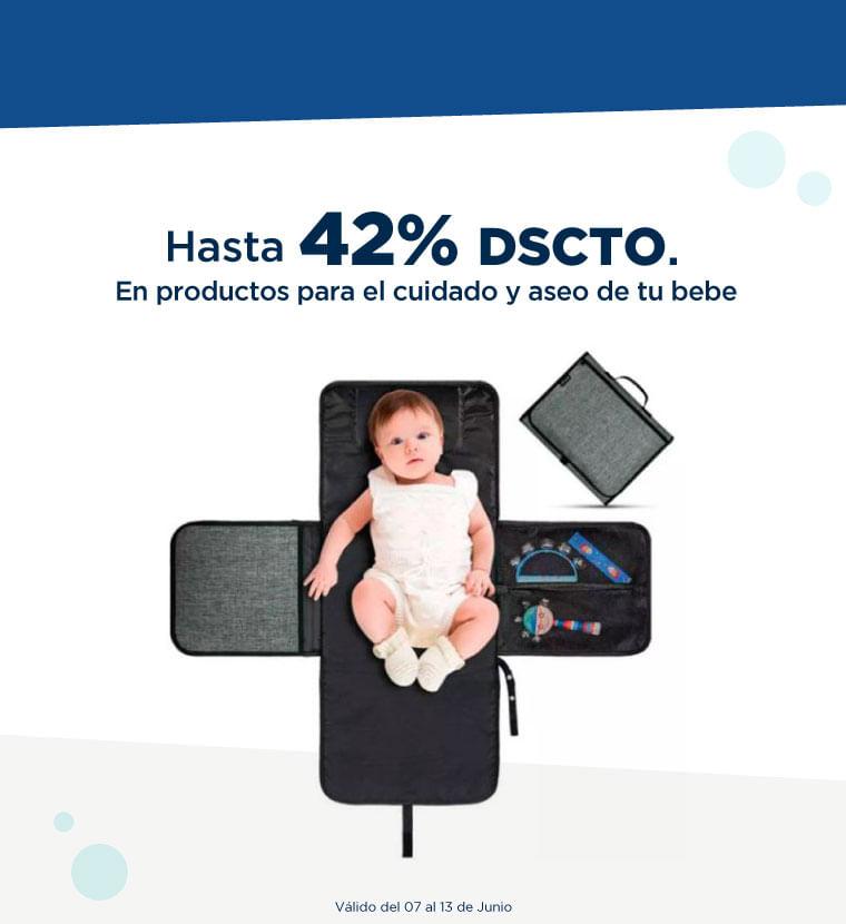 Hasta 42% de descuento en productos para el cuidado y aseo de tu bebe