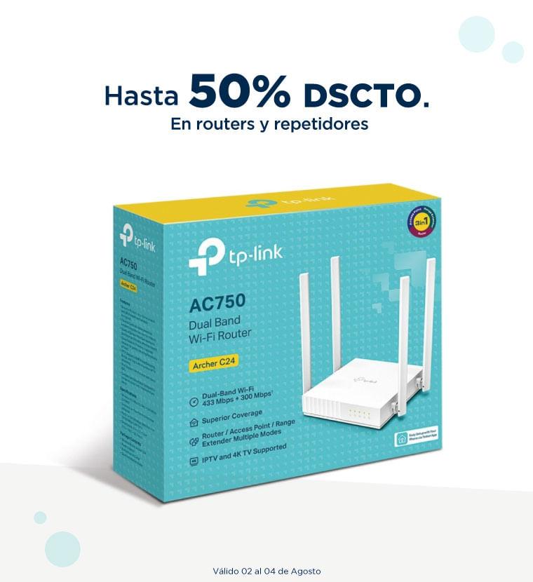 Hasta 50% de descuento en routers y repetidores