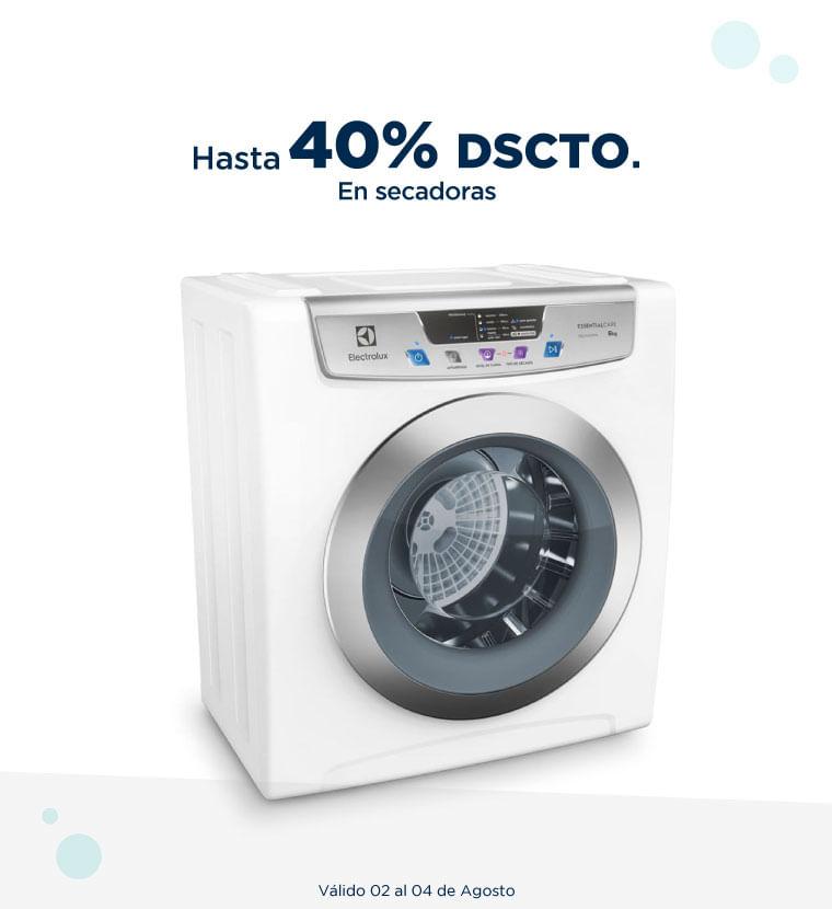 Hasta 40% de descuento en secadoras