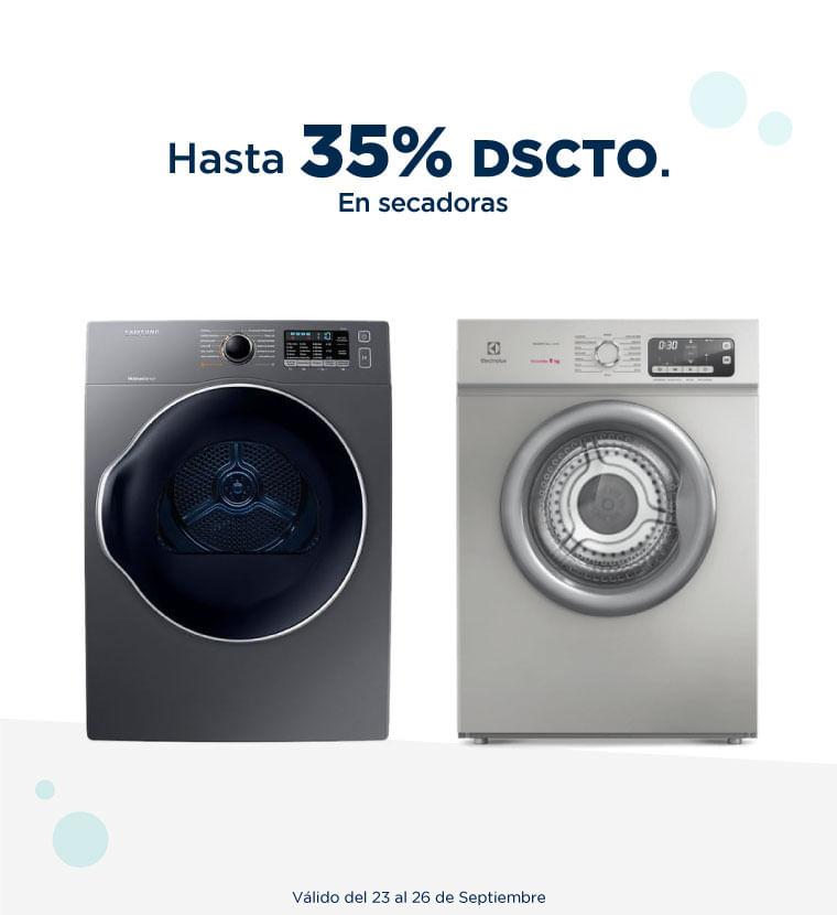 Hasta 35% de descuento en Secadoras